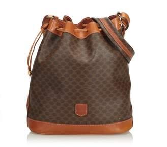 be4d0edfec5f Celine Vintage Macadam Drawstring Bucket Bag