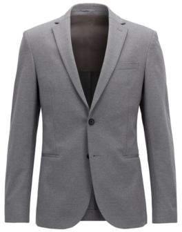 BOSS Hugo Slim-fit blazer in a stretch cotton 36R Grey