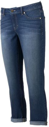 Women's Jennifer Lopez Cuffed Denim Capris $50 thestylecure.com