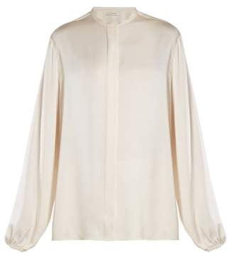 29cdecb5178f85 The Row Maura Stand Collar Satin Blouse - Womens - Ivory