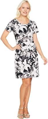 Isaac Mizrahi Live! SOHO Short Sleeve Floral Camo Print Dress