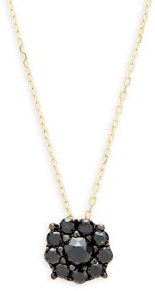 Suzanne Kalan Women's Black Diamond and 14K Yellow Gold Pendant Necklace