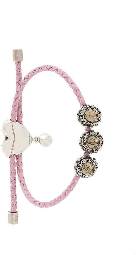 Alexander McQueenAlexander McQueen heart charm nappa bracelet