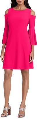 Ralph Lauren Knit Bell Sleeve Cold Shoulder Dress $140 thestylecure.com