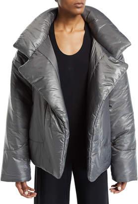 Norma Kamali Sleeping Bag Open-Front Puffer Coat
