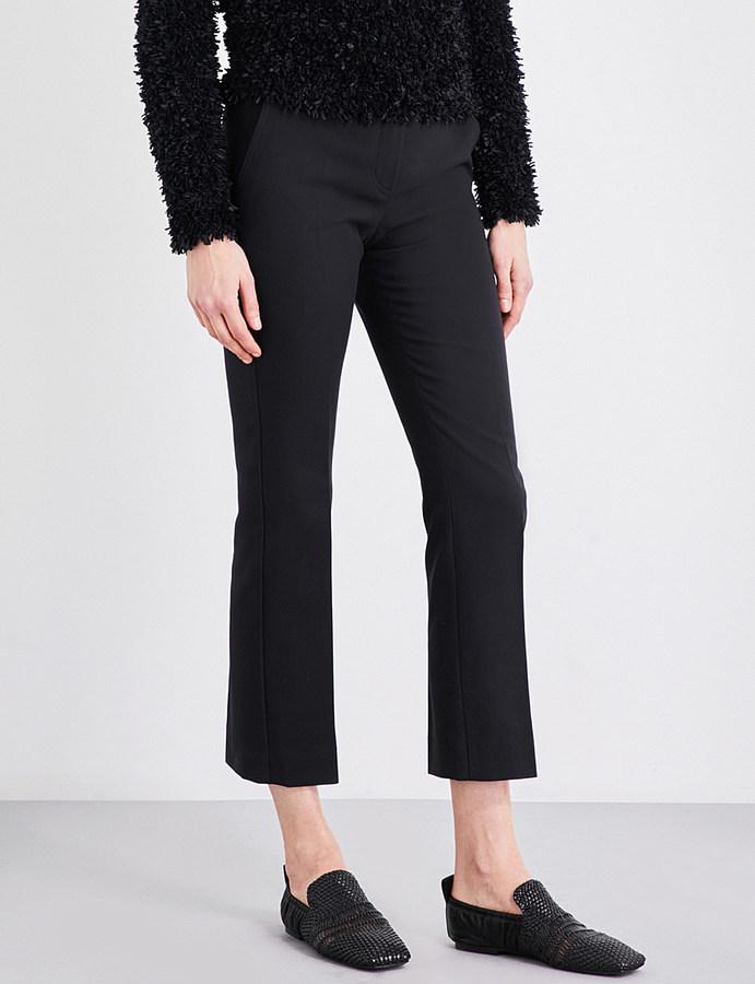 Max MaraMax Mara Mid-rise cropped pure-cotton trousers