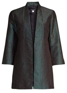 Eileen Fisher Metallic Jacquard Shawl Collar Jacket