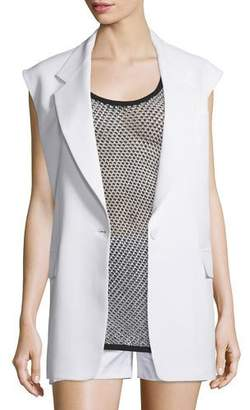 DKNY Crepe Oversized Open-Back Vest, Chalk $495 thestylecure.com