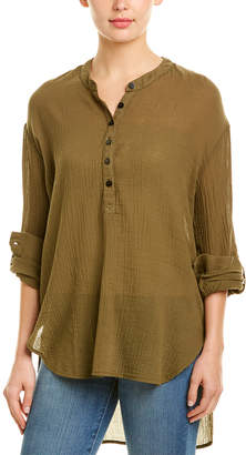 Three Dots Gauze High-Low Tunic