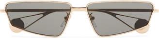 Gucci Rectangle-Frame Gold-Tone Sunglasses - Men - Gold