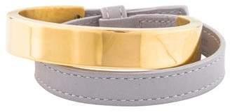 Loewe Leather Double Wrap Bangle