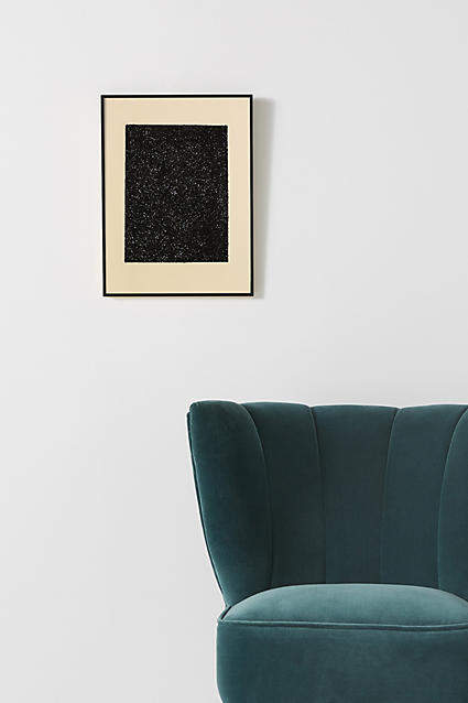 Artfully Walls Black Glitter Wall Art
