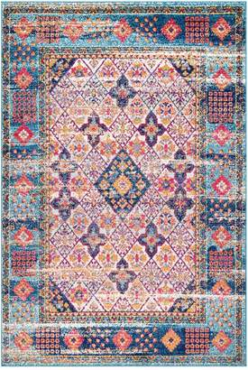 nuLoom Dorine Diamond Tiles Rug - Light Blue
