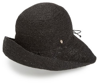 Women's Helen Kaminski 'Provence 10' Packable Raffia Hat - Grey $220 thestylecure.com