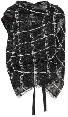 Roland Mouret Plaid cotton-blend top