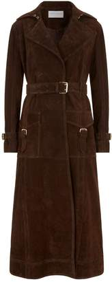 Amanda Wakeley Leather Collared Trench Coat