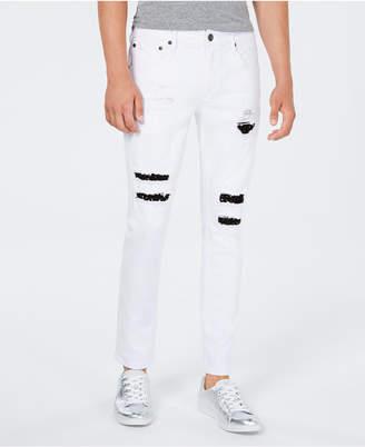 INC International Concepts Inc Men's Stud Repair Skinny Jeans