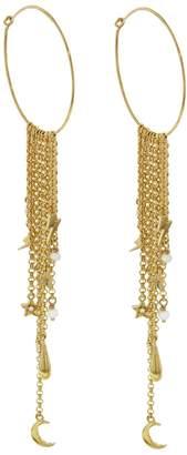 Ileana Makri EYE M by Sky Storm Hoop Earrings - Yellow Gold