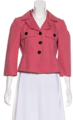 Gucci Notch-Lapel Button-Up Jacket