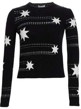 RED Valentino Scattered Star Cotton Sweater