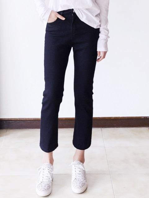 Straight Black Jean