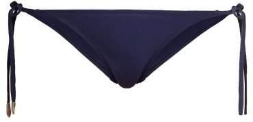 On The Island - Cobra Tie Side Bikini Briefs - Womens - Navy Multi