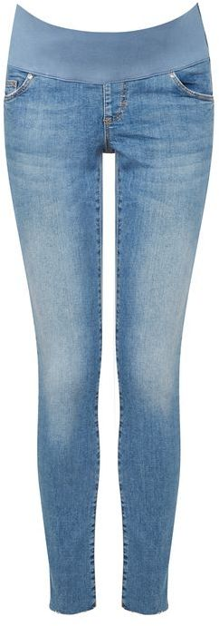 Topshop Topshop Maternity raw hem mdt leigh jeans