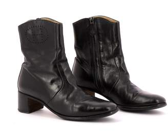 Hermes Black Leather Boots