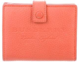 Burberry Leather Compact Wallet