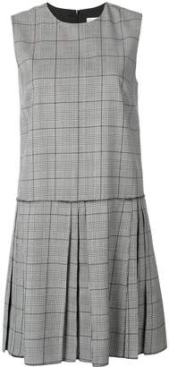 RED Valentino checked flared dress