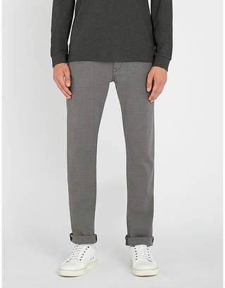 BOSS Regular-fit straight cotton-blend trousers