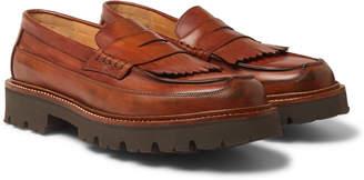 Grenson Leather Kiltie Loafers