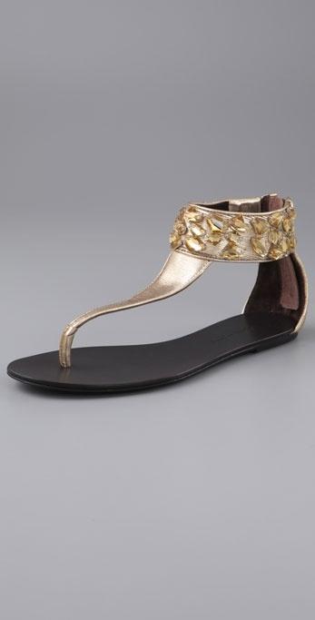 Elizabeth And James Blair Jewel Thong Sandals