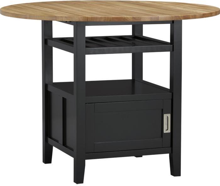 Crate & Barrel Belmont Black High Dining Table