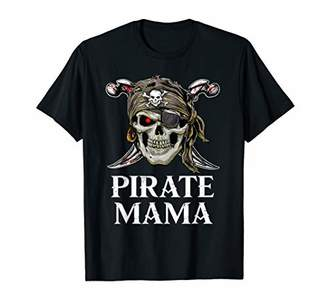 Pirate Mama Family Jolly Roger Skull T-Shirt
