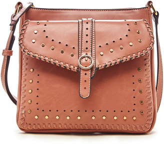 Sole Society Ivah Studded Faux Leather Crossbody Bag