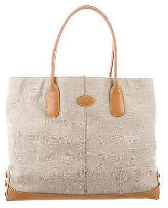 Tod's Textured Woven Tote