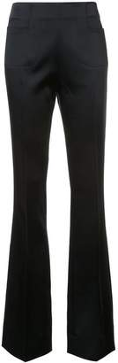 Roland Mouret satin flared trousers
