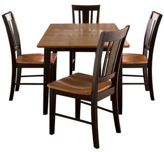 "INC International Concepts 32"" x 48"" Dining Table with 4 San Remo Chairs"