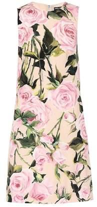 Dolce & Gabbana Floral stretch silk dress
