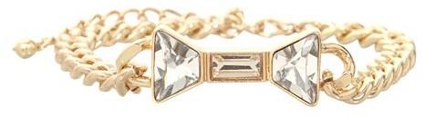 Gold Bow Chain Bracelet