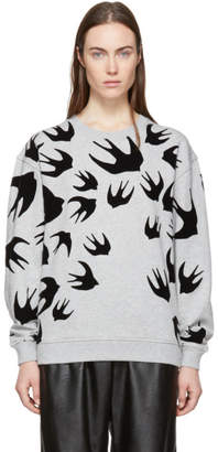 McQ Grey Swallow Signature Sweatshirt