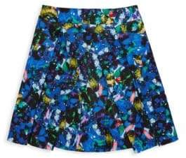 Milly Minis Little Girl's Jewel-Print Pleated Skirt
