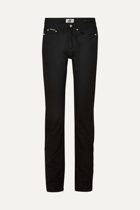Eytys Cypress Raw High-rise Skinny Jeans - Black