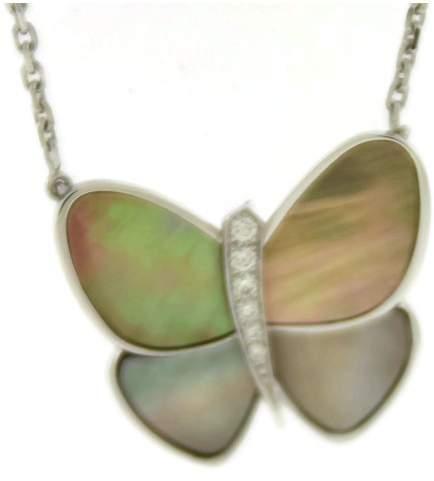 Van Cleef & ArpelsVan Cleef & Arpels 18K White Gold Flying Beauties Diamond Butterfly Pendant