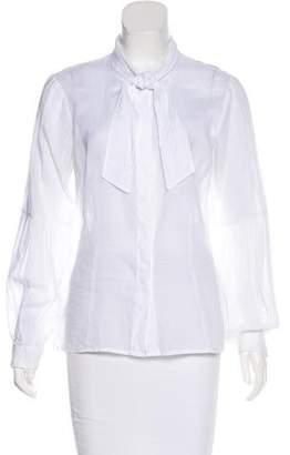 Geoffrey Beene Lightweight Button-Up Blouse