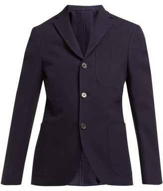 Holiday Boileau Ivy Single Breasted Cotton Blazer - Womens - Navy