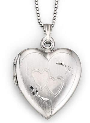 JCPenney FINE JEWELRY Sterling Silver Double Heart Locket Necklace