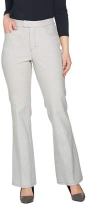 Halston H By H by Petite Bi-Stretch Full Length Flare Pants