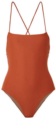 Mara Hoffman Olympia Ribbed Swimsuit - Brick